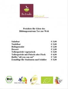 Vorschaubild Rebional Preisliste für Gäste